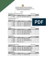 Horario Semestre Académico 2015-i ( Malla 2009)