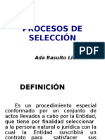 Tipos de Procesos de Selección y modalidades