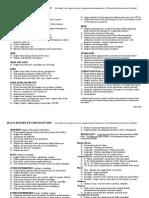 MS2 Master PE Checklist