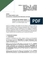Se Expida Resolución de Alcaldía de Naturaleza Permanente en El d.l. 276 Modelo 1
