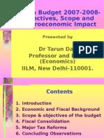 Indian Budget 2007- Tarun Das
