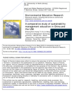 A comparative study of sustainability management education in China and the USA