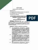 Ley 29090 Regularizacion de Habilitaciones Urbanas y Edificaciones