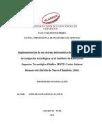 Prototipo Informe Implementacion TIC