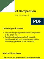unit 7 - lesson 1 perfect competition