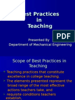 Best Practices in Teaching