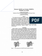 Dual Gate FinFET and Tri Gate MOSFETs Simulation and Design