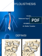 Ppt Dr. Haidar Nasution ( Spondilolisthesis)