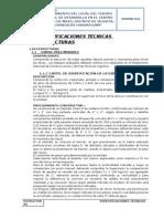 1.- Especificaciones Tecnicas - Estructuras Mazo
