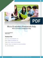 Micro Economics Homework Help