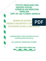 Modelos de Relacion Medico Paciente Y Corrientes Filosoficas