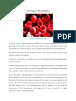 Hematology and Hemapathologist