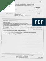 O/N/03 History O Level Paper I