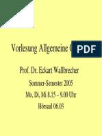 Allgemeine Geologie 1