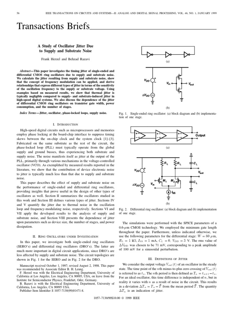A Study Of Oscillator Jitter Due To Supply And Substrate Noise Figure 1 Block Diagram For The Theremin Circuit Field Effect Transistor Electronic