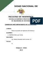 PRINCIPALES RUBROS LA LIBERTAD 2012