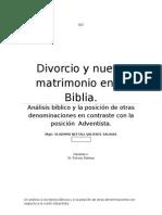 Divorcio y Nuevo Matrimonio en La Biblia