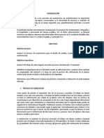 Informe de Proceso de Manufactura