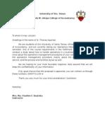 Sample interview letter