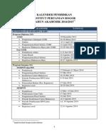 Kalender Akademik Ipb 2014 1015 Revisi 6 Agustus.original
