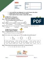 Mate.info.Ro.3102 Evaluare in Educatie – Matematica – 18 Oct 2014 - Clasa a I-A