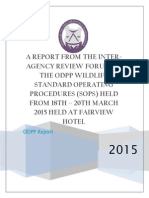 REPORT ON INTER-AGENCY SOPS WORKSHOP
