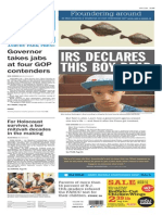 Asbury Park Press front page Friday, April 17 2015