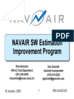 Navair Software Estimation Improvement Program