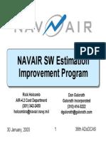 Navair Software Estimation Improvement Program