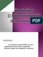 Evolution tridimentionnel des protéines