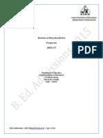 DU CIE B.Ed. Information Brochure