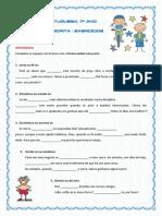 expressão escrita - exerc.ortografia, translineacao,pontuacao(blog7 10-11)