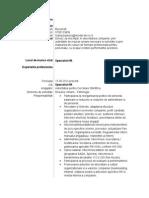 Model de CV Specialist HR