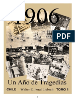 """""""CHILE, CATASTROFES Y TRAGEDIAS 1906"""", Tomo 1"""