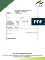 Sample Salary Certificate