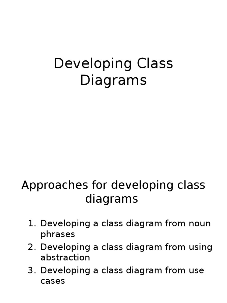 OOAD - Ch 03_Developing Class Diagrams | Use Case | Object ...