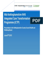 053.Mid-Nottinghamshire NHS Integrated Care Transformation Programme (ICTP)
