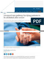 056.Liverpool care pathway for dying patients to be abolished after review (The Guardian)