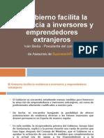 El Gobierno Facilita La Residencia a Inversores y Emprendedores Extranjeros