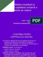 CONTABILITATEA MODIFICARII CAPITALULUI