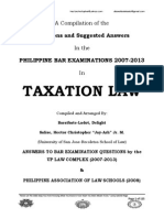 2007-2013 Taxation Law Philippine Bar Examination Questions and Suggested Answers (JayArhSals&Ladot)