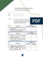 Anket Respon Siswa Pada Model Simulasi