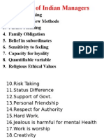 L3 Values of Indian Managers 4.