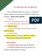 Recoltarea Produselor Biologice. Urina, Materii Fecale, Etcdoc