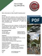 HPC2014 Leaflet