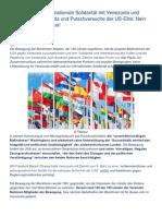 120 Staaten Für Internationale Solidarität Mit Venezuela Und Gegen Die Propaganda Und Putschversuche Der US