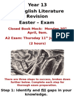 year 13 revision easter - exam