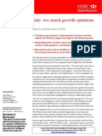 Italy Too Much Growth Optimism