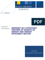 Germany as a Strategic Partner of Kosovo in Energy and Energy Efficiency Sector