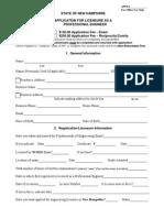Application Form PE